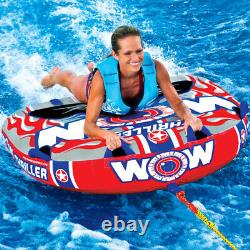 Thriller Single Rider Lake Boat Towable Tube Water With Rope And Pump Kit