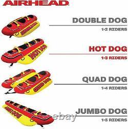 Towable Gonflable 2/3/5 Personne Hot Dog Fun Tube Ski Water Lake Raft Banana Ride
