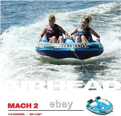 Towable Water Tube Inflatable Boat 2 Personne Nouveau Ski Tow Raft Float Tubing Sport