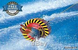 Tractable Gonflable Tube Pivotant De Remorquage D'eau Rider Lac Bateau Sport Extreme Tumbling