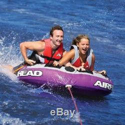 Tractable Tube 2 Personne Gonflable Rider Sport Lac Raft Remorquage Float Violet