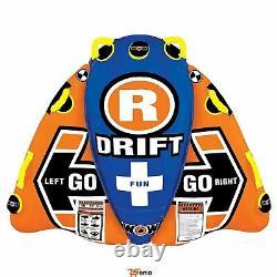 Tube D'eau 1 Personne Flex Wing Drifter Towable Orange Rsenio