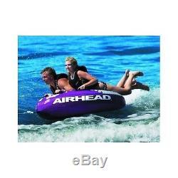 Tube D'eau Gonflable 2 Personnes Sport Tractable Ski Float Raft Rider Bateau De Remorquage Lac