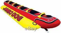 Tube D'eau Gonflable Remorquable Gonflable Pour Bateau De Chien Airhead Hd 5 Jumbo Hot Rider 1-5 Personnes