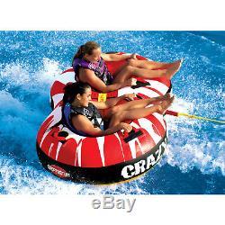 Tube De Navigation Gonflable 53-1450 De Canotage De L'eau De Cavalier Remorquable De Double De Sportsstuff Crazy 8