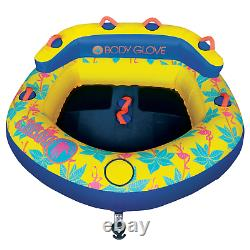 Tube De Remorquage Sports Nautiques 2 Personnes Yellow Water Skiing Inflatable Beach Lake Nouveau
