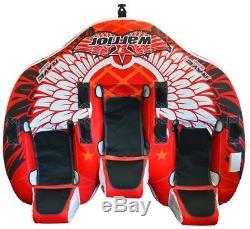 Tube De Ski Tractable Tractable Pour Bateau À Eau Warrior 3 New Rave Sports 02379 Avec Garantie
