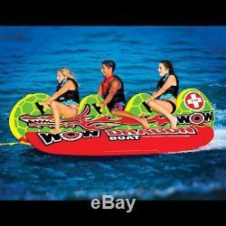 Tube Gonflable D'eau De Cavalier Du Bateau 3 De Banane De Dragon De Wow Watersports 13-1060