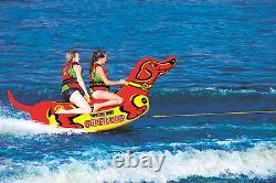 Tube Gonflable De Remorquage De Bateau Super Dog Water Sports Lake River 1 À 2 Rider Nouveau