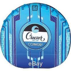 Tube Gonflable Tractable En Eau Cruzer 3 Rider Ultra Plush, Bleu Ciel (boîte Ouverte)