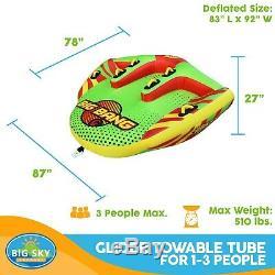 Tube Gonflable Tractable Rider 3 Personne D'eau Du Lac Bateau Sport Nautique New Sk