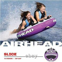 Tube Remorquable 2 Personne Gonflable Water Rider Sports Lake Raft Tow Float Purple