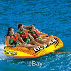 Tube Ski Nautique Tractable Heavy Duty Tube Tractable Tirer Bateau 3 Rider Coupe