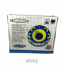 Vtg Jobe Sports Thrasher 46976 Tube D'eau Remorque/snow Tube Bleu - Jaune Nos