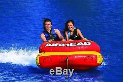 Water Sport 2 Rider Towable Tube Gonflable Du Lac Chariot Style Flotteur Bateau Piscine