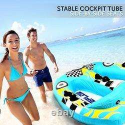 Watersports Inflatable Towable Booster Tube 2 Personne Water Boating Float Tow Raf