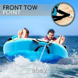 Watersports Inflatable Towable Booster Tube Two Person Water Boating Float