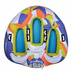 White Knuckle Le Tube D'eau Tractable Gonflable Gonflé Par 3 Personnes Easy De Triplet