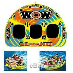 Wow 16-1030 Macho Combo Water Tube Boat 1-3 Personne Cavaliers Remorquable Gonflable