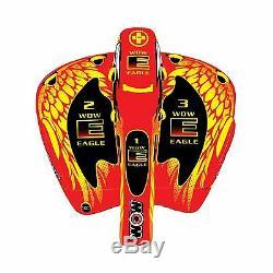 Wow Aigle 3 Personnes Tube De Salon Gonflable Tractable Ski Nautique 17-1040 Wow Sport