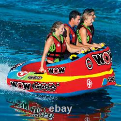 Wow Bingo 2 Gonflable 2 Personnes Sièges Ride Cockpit Towable Water Sports Tube