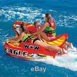 Wow Eagle 3 Personnes Salon Gonflable Tractable Pour Ski Nautique Wow 17-1040 New