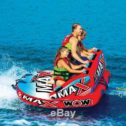 Wow Max 1, 2 Ou 3 Personne Gonflable Tractable Tube Bateau Radeau Eau Flotteur Fast Ship
