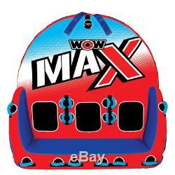 Wow Max 1 3 Personne Tractable Eau Tube Rouge Et Bleu