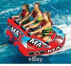Wow Max 1 À 3 Riders Towable Tube Haute Vis Haute Perform D'eau Du Lac De La Rivière Fun