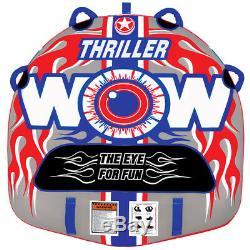 Wow Nautique 11-1060 1 Personne Double Thriller Webbing Eau Towable Tube, Rouge