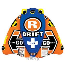Wow Nautique 13-1030 1 Personne Flex Wing Drifter Eau Towable Tube, Orange