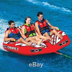 Wow Nautique Coupe Gonflable 3 Personne Towable Tube Float Ski Nautique Nib