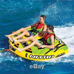 Wow Nitro 2 Personne Bateau Gonflable Tractable Pont Tube Eau De Remorquage Raft Flotteur