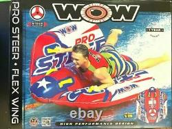 Wow Pro Steer Flex Wing Tube Gonflable De Remorquage Float 1-2 Rider Personne Water Sppo