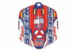Wow Pro Steer Flex Wing Tube Gonflable De Remorquage Float 1-2 Rider Water Sportsstuf