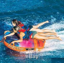 Wow Soft Top 1-2 Personne Bateau Gonflable Tractable Pont Tube Eau De Remorquage Raft Floatf