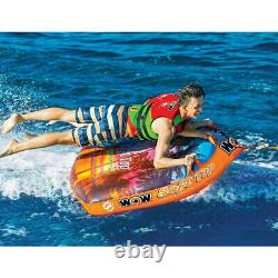 Wow Soft Top 1-2 Personne Towable Inflatable Deck Tube Tow Raft Ski Boat Water