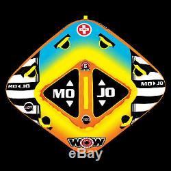Wow Sport Mojo 1-2 Personne Towable Tube De L'eau Pour La Piscine Et Le Lac (16-1060)