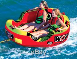 Wow Sports Aquatiques 18-1040 Go Bot Towable Tube Float Raft Ski Nautique Bateau 2 Personne