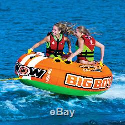 Wow Sports Big Boy Racing Tube D'eau Tractable Pour 1 À 4 Personnes Pour Piscine Et Lac