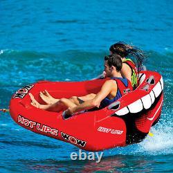 Wow Sports Hot Lips Tube D'eau De Remorquage 2 Personnes Pour Piscine Et Lac (15-1100)