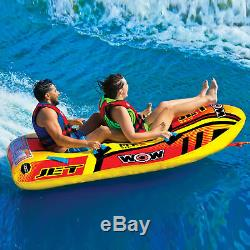 Wow Sports Jet Boat 2 Tubes D'eau Tractables Pour Piscine Et Lac (17-1020)