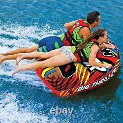 Wow Sports Nautiques Thriller Deck Tube Water Towable Tube Gonflable 1 À 2 Riders