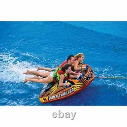 Wow Sports Nautiques Thriller Deck Tube Water Towable Tube Gonflable 1 À 3 Riders