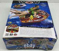 Wow Sports Nautiques Thriller Deck Tube Water Towable Tube Inflatable Boat
