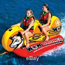 Wow Sports Tube D'eau Remorquable Pour 2 Personnes Avec Bateau Bronco Pour Piscine Et Lac (14-1050)