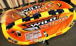 Wow Sports Wild Wing 3p Tube Tractable À 2 Voies Assis Ou Agenouillé 3 Personnes Eau Gonflable