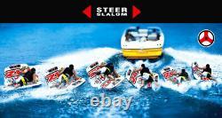 Wow Sports Zig Zag 1 Personne Steerable Et Towable Tube D'eau Pour Piscine Et Lac