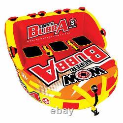 Wow Super Bubba Deck Gonflable Sièges Tuyau Flottant D'eau Remorqué (boîte Ouverte)