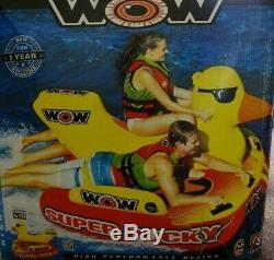 Wow Super Ducky 1-3 Personne Gonflable Lac Bateau Tube Tractable Raft Eau